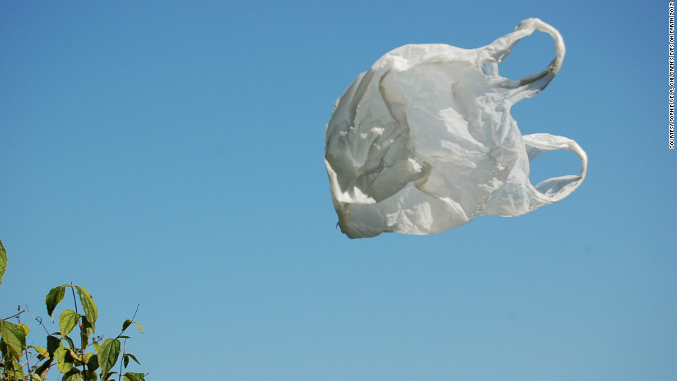Special prize winner Sophie Vela, 14, from France took this elegiac photo of a plastic bag caught by a gust of wind.