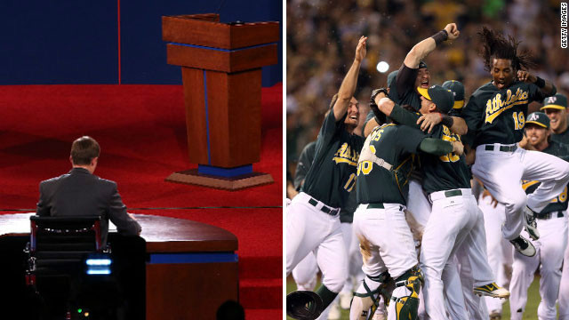 Some viewers Wednesday night will be forced to choose between the presidential debate and crucial baseball games.