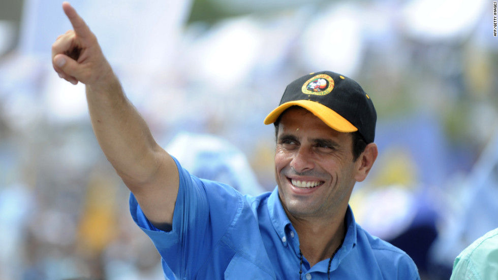 """Venezuelans are looking for a new way,"" Capriles told his supporters. ""It's been 14 years of the same government. This government has already completed its cycle and has nothing more to offer. They're only recycling promises."""