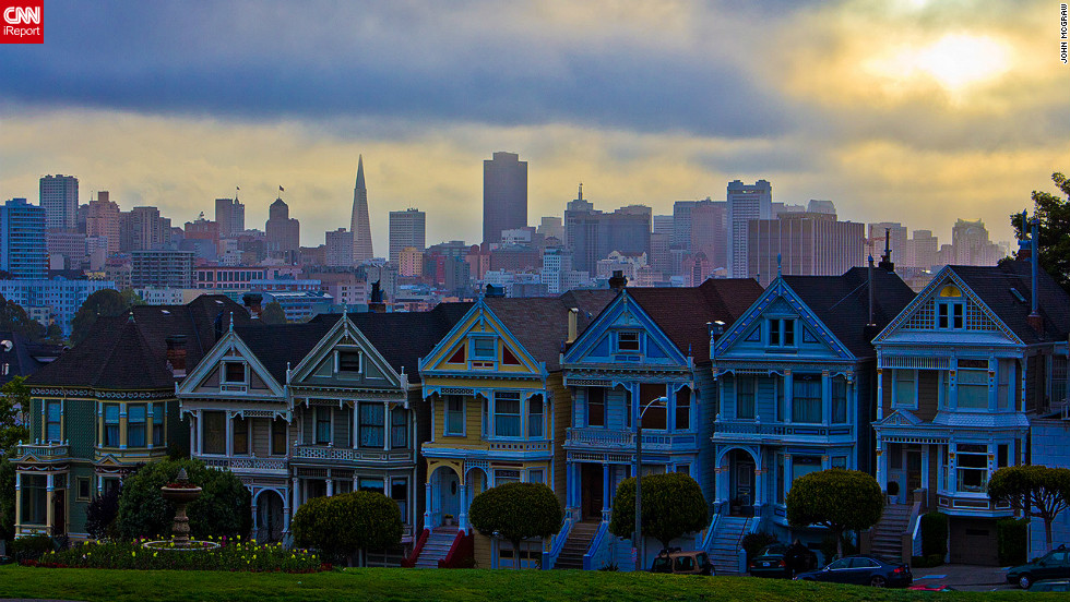 "As part of our <a href=""http://edition.cnn.com/SPECIALS/greatbuildings"">Great Buildings</a> special, CNN iReport asked you to send in photos and video of your favorite buildings. Here are a selection of the best. John McGraw took this stunning picture of San Francisco's Painted Ladies. ""To see the city of San Francisco waking up in the background was an amazing site,"" McGraw said."
