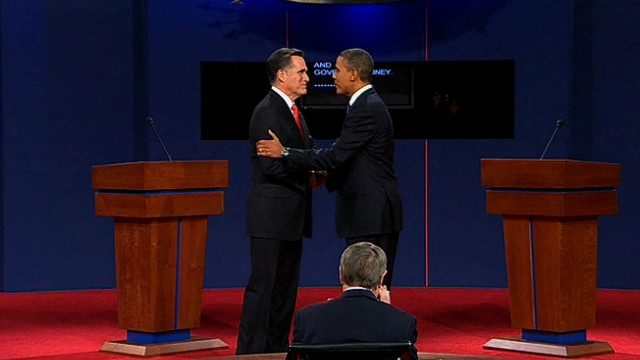 Obama and Romney debate in Denver
