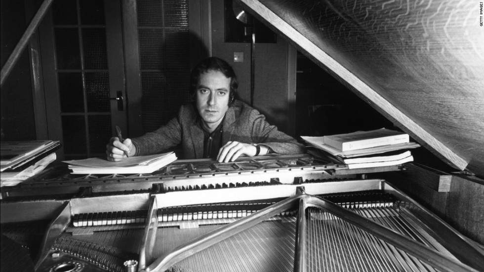 British composer John Barry, creator of the James Bond theme music, at his piano in December 1967.