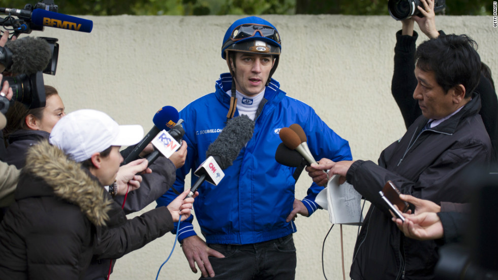 French jockey Christophe Soumillon will be riding Japan's big hope Orfevre. His chances of winning now look slim after drawing the far outside stall 18.