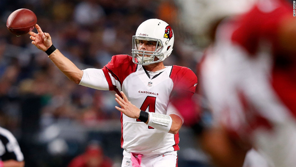 Quarterback Kevin Kolb of the Arizona Cardinals passes during Thursday's game against the St. Louis Rams.