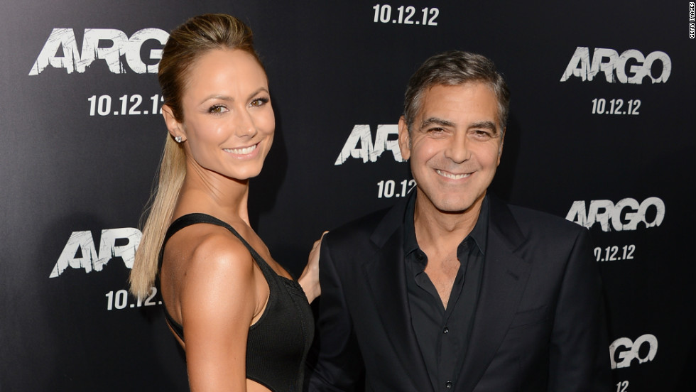 "<strong>Stacy Keibler:</strong> Clooney dated reality TV and WWE star Stacy Keibler from 2011 to 2013. He was hesitant to discuss his romance with Keibler, as he told the <a href=""http://marquee.blogs.cnn.com/2012/02/16/george-clooney-still-open-to-marriage/?iref=allsearch"" target=""_blank"">Hollywood Reporter in 2012</a>, ""there is so little in my life that is private."" News spread in July that the two had broken up for an undisclosed reason. Keibler went on to marry entrepreneur Jared Pobre in Mexico in March."