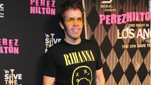 Perez Hilton arrives at Perez Hilton's One Night In LA Benefiting VH1 in Los Angeles, California in September 2012.