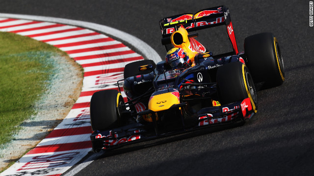 Red Bull's Australian driver Mark Webber is currently fifth in the 2012 F1 world championship.