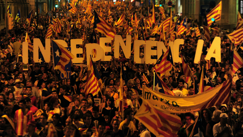The Catalan National Day is September 11, commemorating the day in 1714 when the Spain monarchy defeated Catalan troops in the War of the Spain Succession. The day is used to showcase the region's culture and traditions, as well as to campaign for secession from Spain.