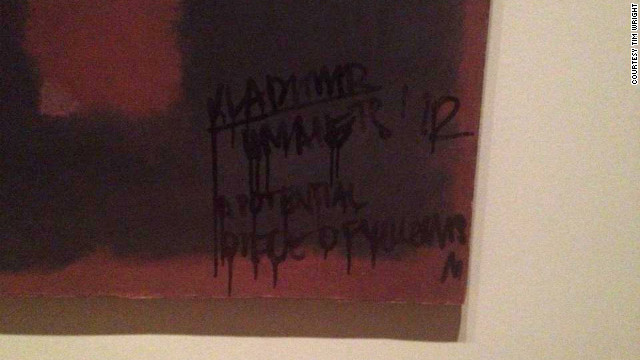A Mark Rothko painting was defaced at London's Tate Modern museum on Sunday.