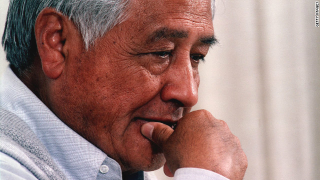 Cesar Chavez was posthumously given a Medal of Freedom a year after he died by President Bill Clinton.