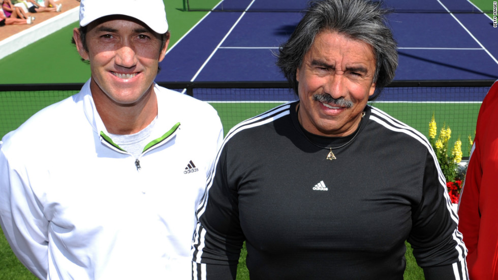"Darren Cahill (left) and Gil Reyes worked together to keep Agassi at the top of his game. ""After a tournament, Darren [Agassi's former coach] would often say: 'get him in the gym, because I see a different guy on the court when he's been in the gym,'"" Reyes said."