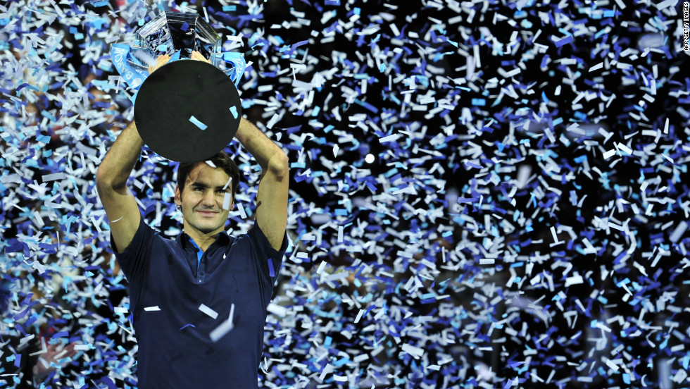"As the season draws to a close, Federer will be looking to defend his ATP Tour Finals title he won in 2011 (pictured). The six-time winner is already the oldest champion in the tournament's history. He's a class apart, Reyes says. ""Roger is a perfect athlete -- his movement, his game, his mental, his physical. There's Roger and then there's everyone else."""