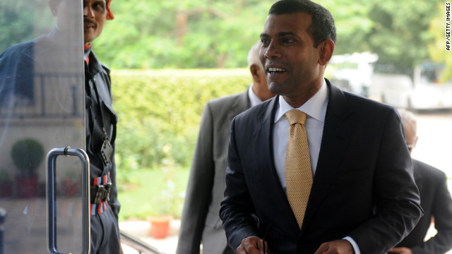 Former Maldives President Mohamed Nasheed pictured in 2012.
