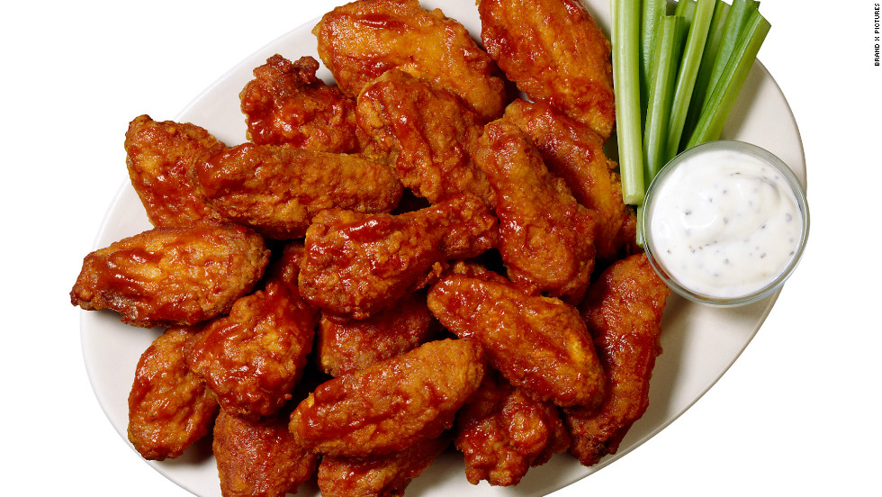 "51% of U.S. adults who eat chicken wings said they typically like to eat their wings with ranch dressing, according to a new <a href=""http://www.nationalchickencouncil.org/americans-eat-1-25-billion-chicken-wings-super-bowl/"" target=""_blank"">National Chicken Council</a> poll conducted online in January 2014 by Harris Interactive."