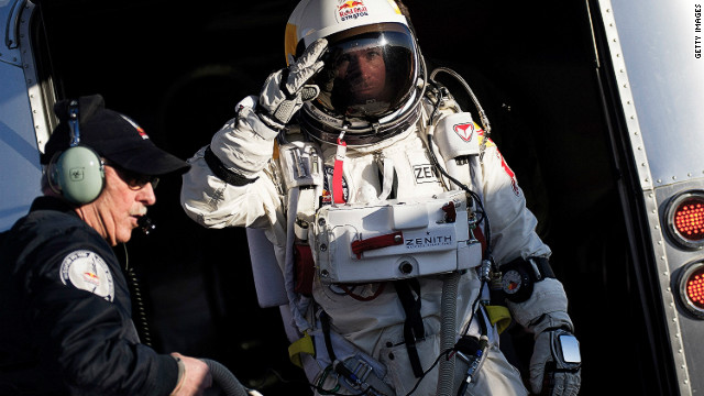 Baumgartner makes record space skydive