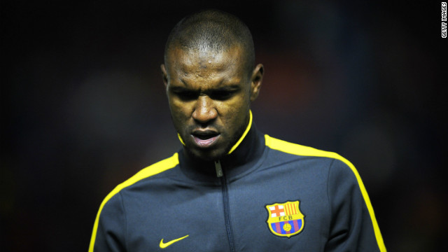 French defender Eric Abidal moved to Spanish club Barcelona from Lyon in 2007