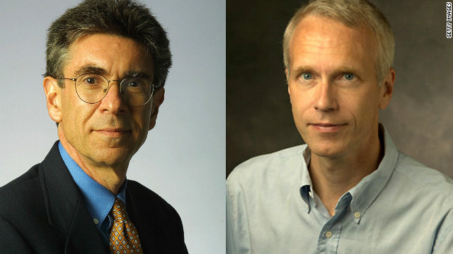 Research by Robert J. Lefkowitz (L) and Brian K. Kobilka (R) on have increased understanding of how cells sense chemicals in the bloodstream.