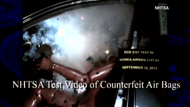 Tests show counterfeit airbags failing