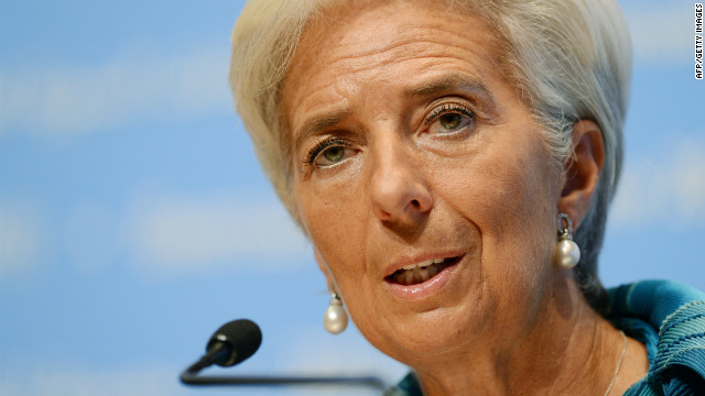 International Monetary Fund (IMF) managing director Christine Lagarde answers questions at a press conference during the annual meetings of the IMF and the World Bank in Tokyo on October 11, 2012