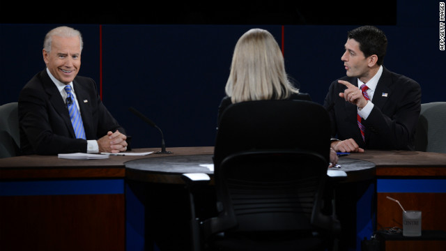 Thursday's debate between Vice President Biden and Rep. Ryan was full of combative exchanges and interruptions.
