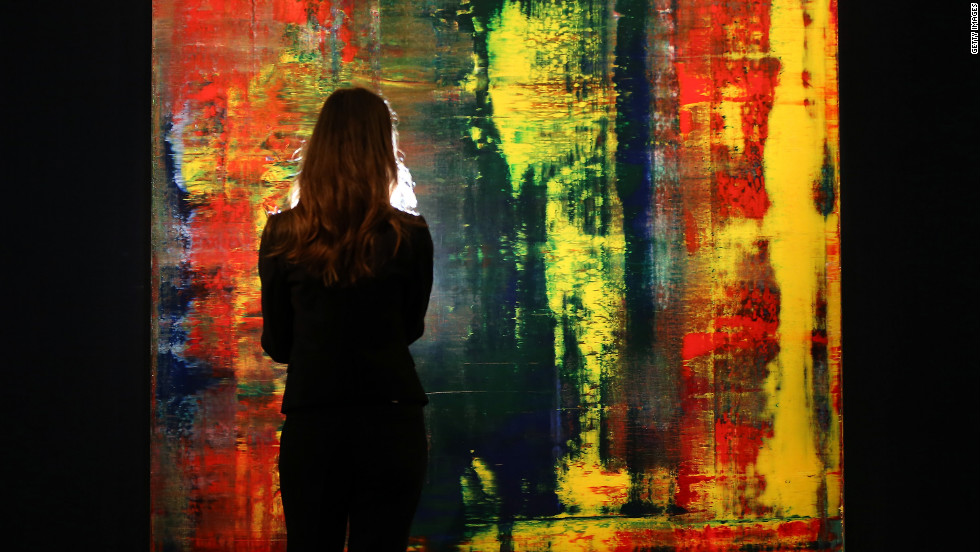 "Gerhard Richter's ""Abstract Bild"" sold for $30 million in 2014 at a Sotheby's auction, breaking the existing sales price record for the work of a living artist."