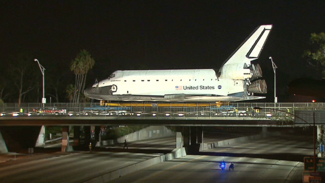 Shuttle Endeavour wheeled through L.A.