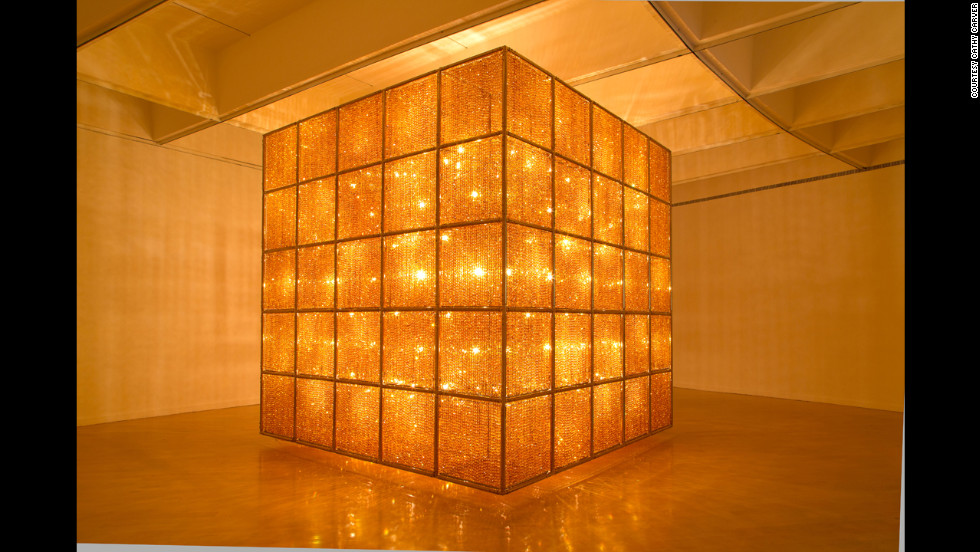 """Cube Light"" (2008) is nearly 14 feet on each side and takes up an entire gallery."
