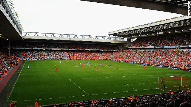 Liverpool's Anfield Stadium has a current capacity of 45,000 but will be extended to 60,000 under new plans.