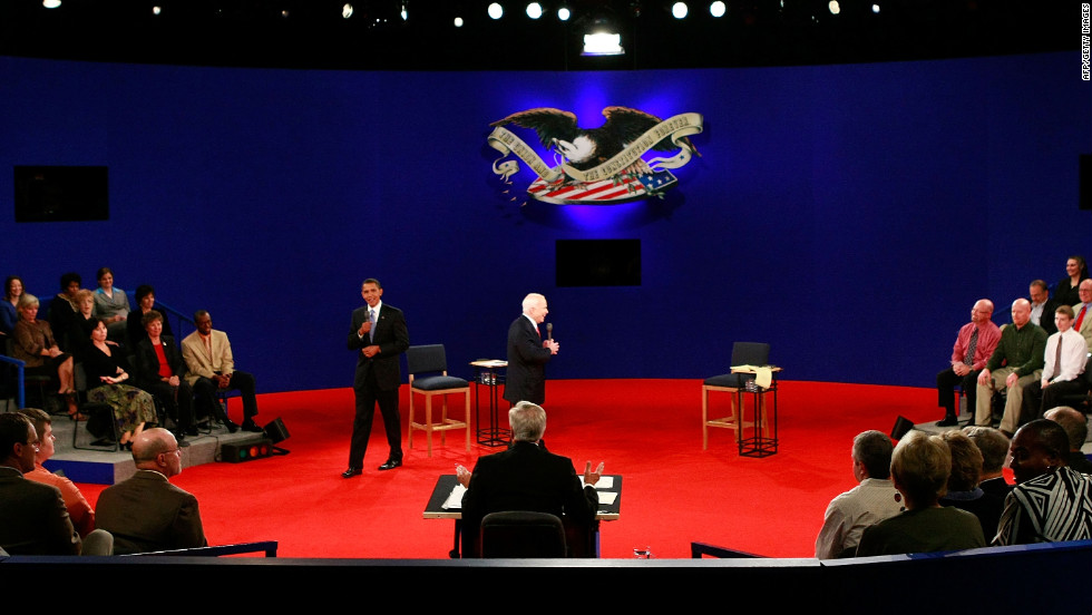 Remember George H.W. Bush checking his watch? Or Al Gore invading George W. Bush's personal space? The town hall format for presidential debates hasn't always been kind to candidates. Here are a few moments when things didn't go so well.