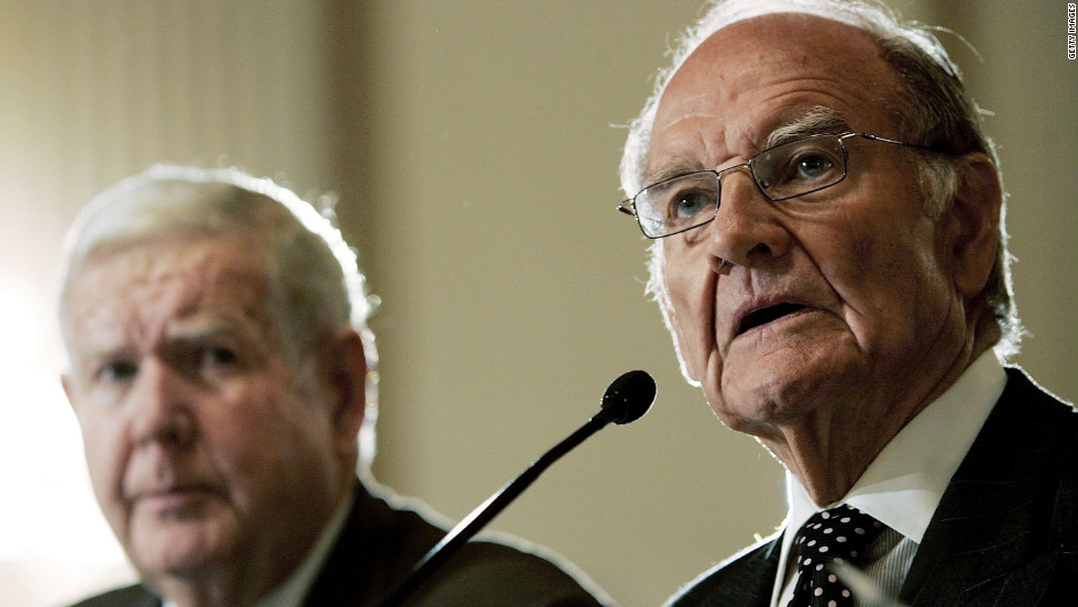 Murtha, left, listens to McGovern testify before the Congressional Progressive Caucus forum on U.S. military involvement in Iraq in January 2007.