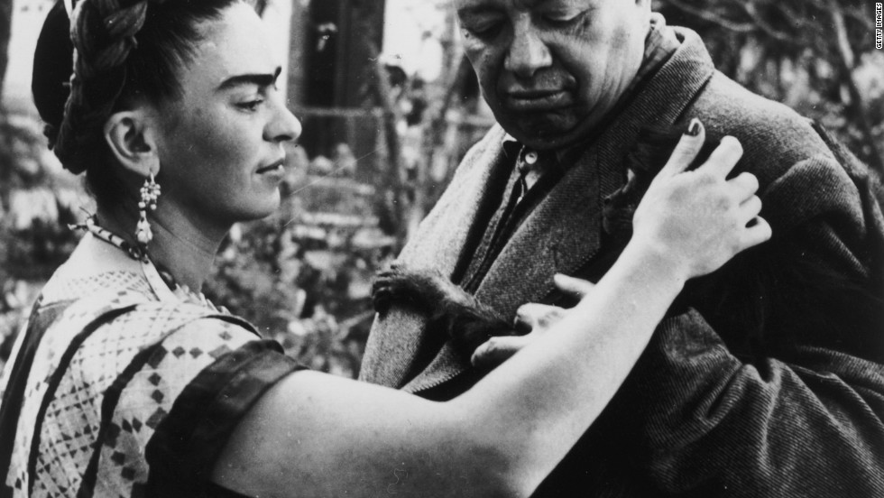 "Frida Kahlo was the wife and muse of  Mexican artist Diego Rivera. An acclaimed artist in her own right, today Frida is the more renowned of the pair, with actress Salma Hayek playing her in the 2002 biographical film ""Frida."""