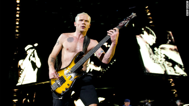 Flea of the Red Hot Chili Peppers, seen here performing in December 2011, turned 50 on Tuesday.