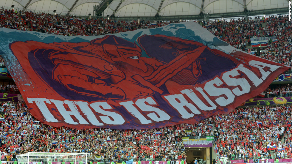 "Russia were again in the news for the wrong reasons at Euro 2012 and were fined $39,00 for ""the setting off and throwing of fireworks by Russia spectators, displaying of illicit banners and the invasion of the pitch by a supporter,"" during the Euro 2012 tie against Poland. Russia was also fined $155,000 after clashes between supporters and police during and after their game against the Czech Republic."