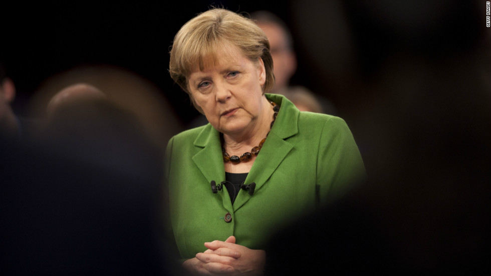While Germany has a lot to thank America for, Pleitgen says the country -- led by Chancellor Angela Merkel -- is less concerned with U.S. politics today and more concerned with trying to help its smaller eurozone neighbors come to terms with a crippling financial crisis.
