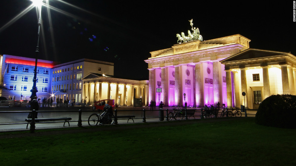 The new U.S. Embassy (L), completed in 2006, sits next to the Brandenburg Gate (R), Berlin's most famous landmark, in a reminder of Germany's special relationship with America.