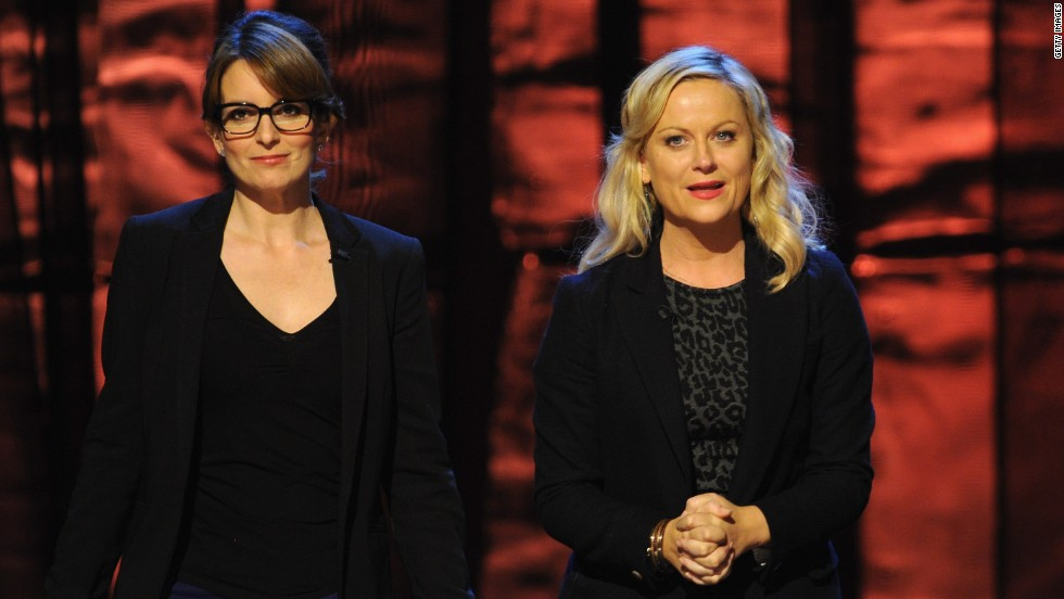 "Fey and Poehler attend Comedy Central's ""Night of Too Many Stars"" to support autism programs in October 2012."