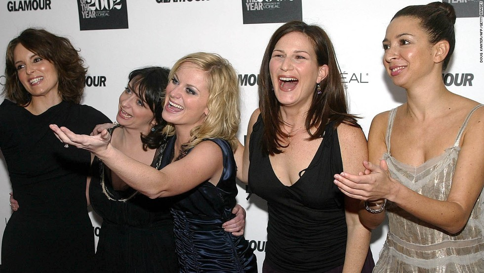 "The women of ""Saturday Night Live"" -- from left, Fey, Rachel Dratch, Poehler, Ana Gasteyer and Maya Rudolph -- are honored at a 2002 event in New York."