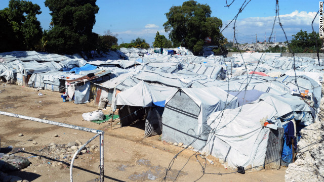 Nearly 370,000 people remain in Haiti displacement camps, according to the U.N.