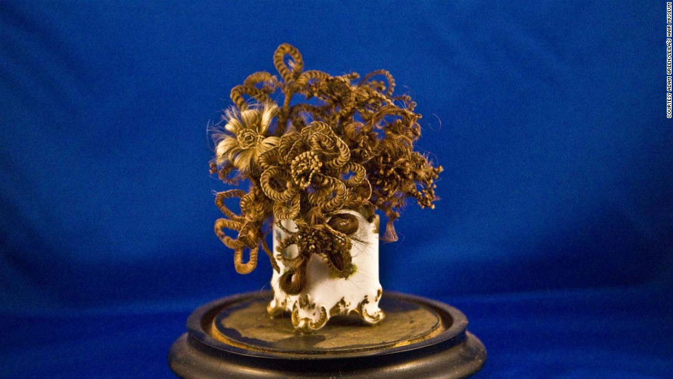 A hair bouquet: gross or gorgeous? Leila's Hair Museum is full of unexpected haircraft.