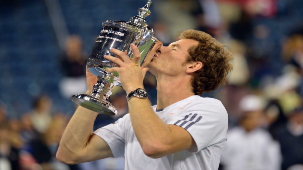 Murray's maiden grand slam triumph came after he squandered a two-set lead before edging out Djokovic in a tense decider.