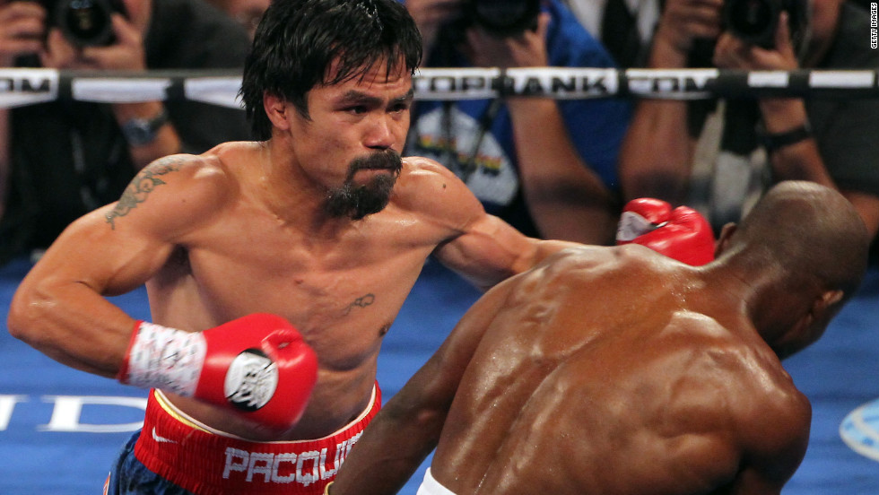 "Manny Pacquiao is often ranked as one of the world's best boxers -- and one of the highest-paid. He was the first boxer to win seven world titles in seven weight divisions, <a href=""http://www.gq.com/sports/profiles/201004/manny-pacquiao-boxer"" target=""_blank"">according to GQ magazine</a>."