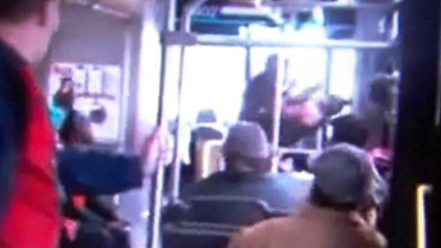 Bus driver, passenger brawl on bus