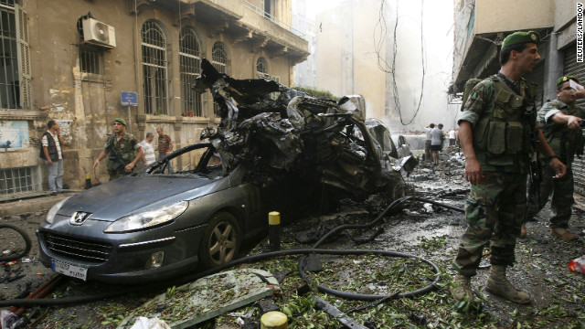 Car bomb rips through heart of Beirut