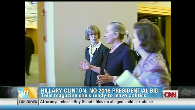 Hillary Clinton saying 'no' to 2016 run