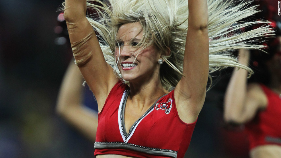 Hosting the NFL also means you get all the trappings that go with it, like the razzamatazz provided by each team's cheerleaders.