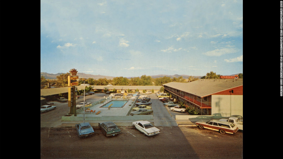 "Rickard created a new book of images in 2012 sourced from postcards including ""El Capitan Lodge, Hawthorne, Nevada, October 9, 1971."""