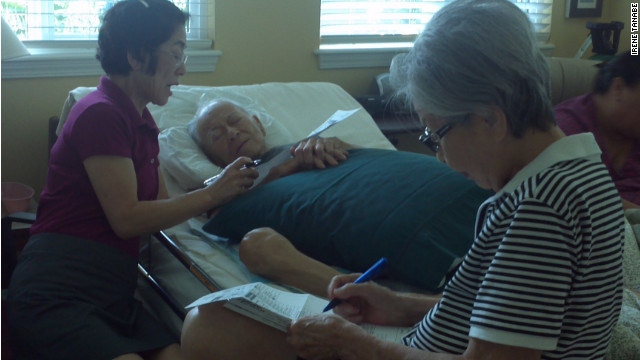 Frank Tanabe's daughter, Barbara, sat at his bedside and read aloud the candidates and issues.