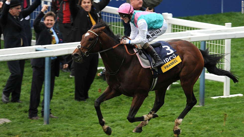 That 14th win came when Frankel powered home to take the Champion Stakes at  Ascot in October 2012 before the colt was retired to stud.