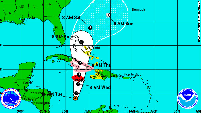 Hurricane Sandy Kills One In Jamaica CNN - Map of us and jamaica