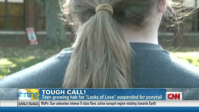 Charitable teen punished for long hair